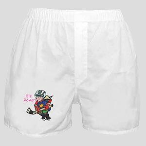 Girl Power Hockey Player Boxer Shorts