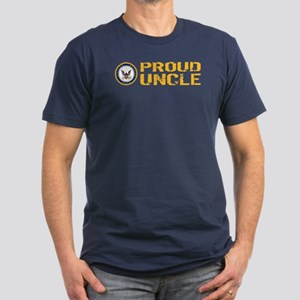U.S. Navy: Proud Uncle Men's Fitted T-Shirt (dark)
