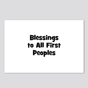 Blessings to All First People Postcards (Package o