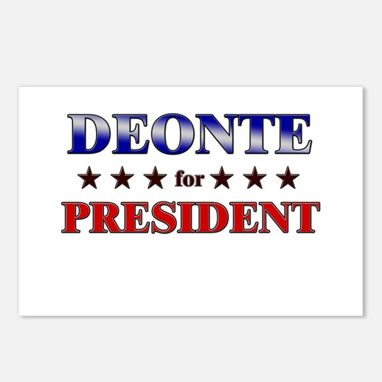DEONTE for president Postcards (Package of 8)