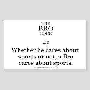 Bro Code #5 Sticker
