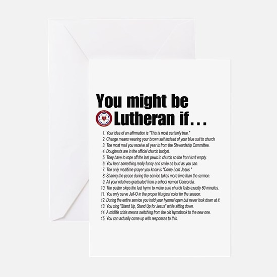 Might Be Lutheran Greeting Cards (Pk of 10)