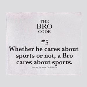 Bro Code #5 Throw Blanket