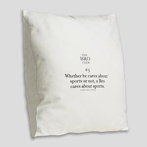 Bro Code #5 Burlap Throw Pillow
