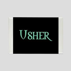 Usher - Pale Green Rectangle Magnet