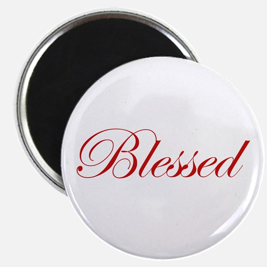 """Red Blessed 2.25"""" Magnet (100 pack)"""