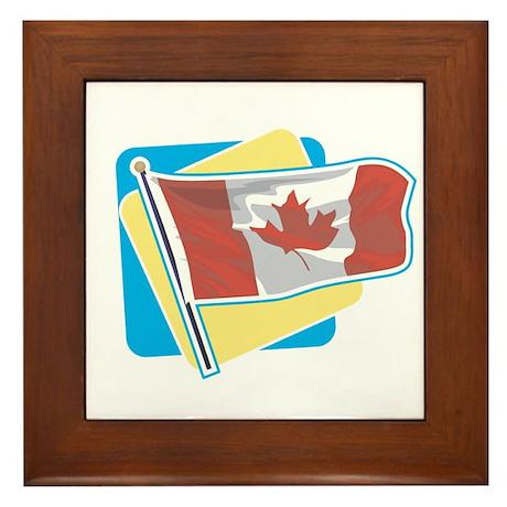 Bright Canadian Flag Framed Tile