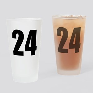 Number 24 Drinking Glass