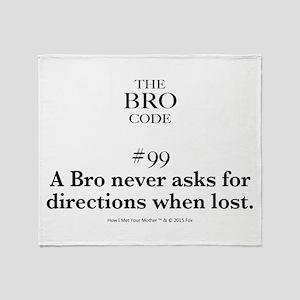Bro Code #99 Throw Blanket