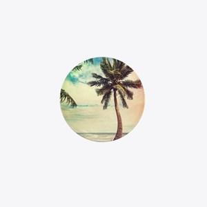 Palm Tree Mini Button
