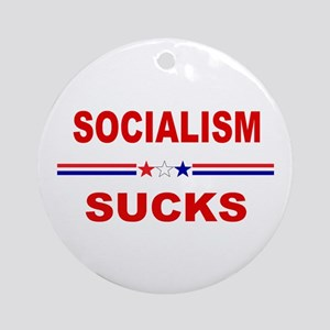 Socialism Sucks Round Ornament