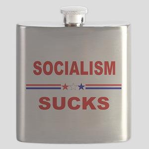 Socialism Sucks Flask