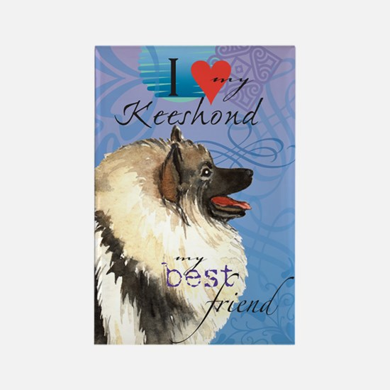 Keeshond Rectangle Magnet