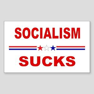 Socialism Sucks Sticker (Rectangle)