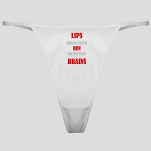 LIPS AND BRAINS Classic Thong