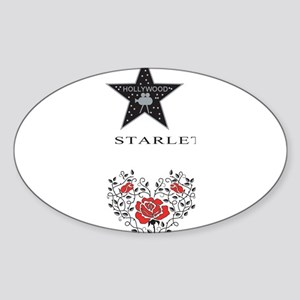 Hollywood Oval Sticker
