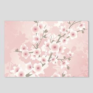 Dusky Pink Vintage Cherry Postcards (Package of 8)