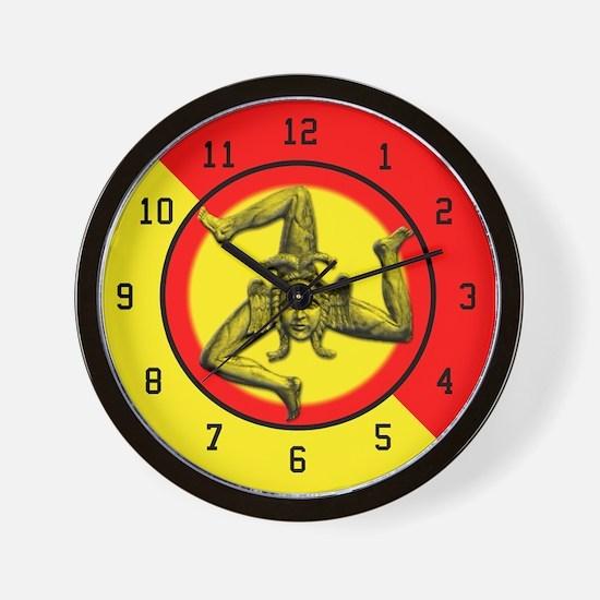 Sicilian Trinacria Wall Clock