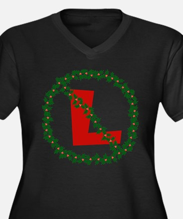 No-L (Noel) Women's Plus Size V-Neck Dark T-Shirt