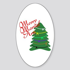 Merry Martial Arts Oval Sticker