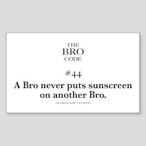 Bro Code #44 Sticker