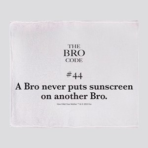 Bro Code #44 Throw Blanket