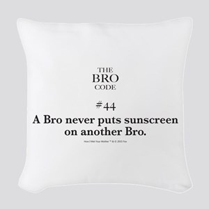 Bro Code #44 Woven Throw Pillow