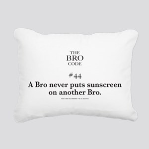 Bro Code #44 Rectangular Canvas Pillow