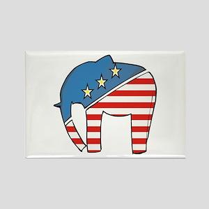 GOP Elephant Rectangle Magnet