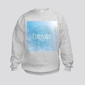 Coronado Beach CA Kids Sweatshirt