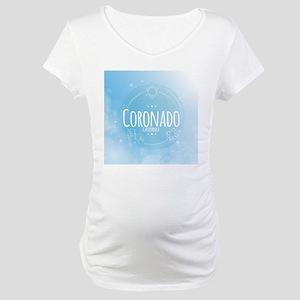 Coronado Beach CA Maternity T-Shirt