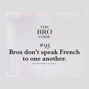 Bro Code #93 Throw Blanket
