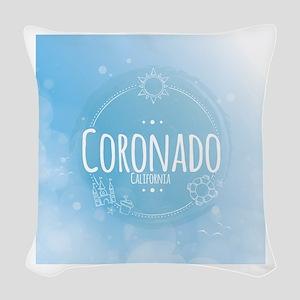 Coronado Beach CA Woven Throw Pillow