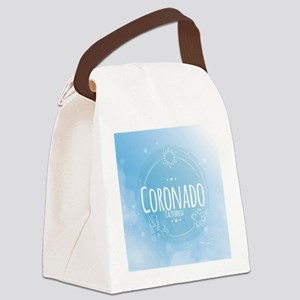 Coronado Beach CA Canvas Lunch Bag