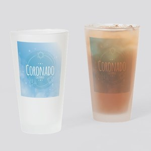 Coronado Beach CA Drinking Glass