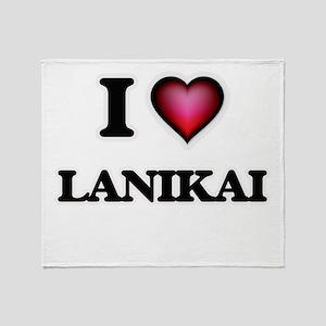 I love Lanikai Hawaii Throw Blanket