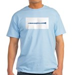 Blue Woodcut Clarinet Light T-Shirt