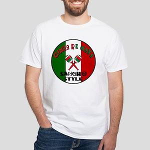 Sancho Cinco De Mayo White T-Shirt