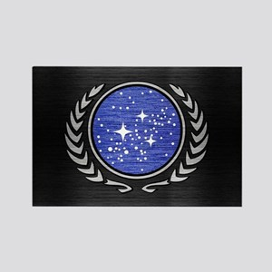 STARTREK UFP METAL 1 Rectangle Magnet