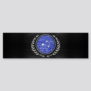 STARTREK UFP METAL 1 Sticker (Bumper)