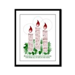 softly evangelistic christmas Framed Panel Print
