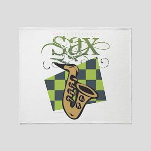 Sax Throw Blanket