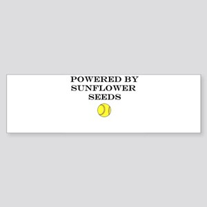 Powered By Sunflower Seeds Bumper Sticker
