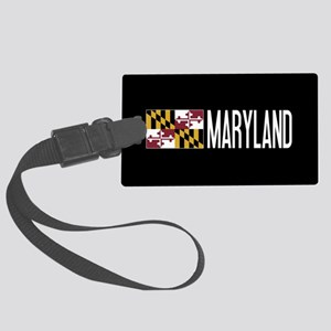 Maryland: Marylander Flag & Mary Large Luggage Tag