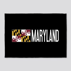 Maryland: Marylander Flag & Marylan 5'x7'Area Rug