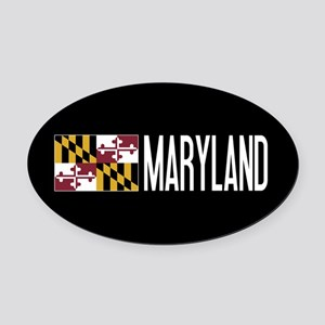 Maryland: Marylander Flag & Maryla Oval Car Magnet
