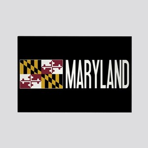 Maryland: Marylander Flag & Maryl Rectangle Magnet