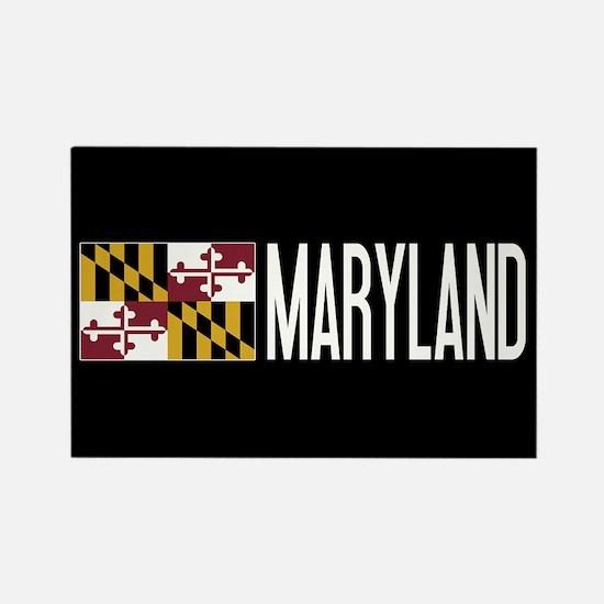 Maryland: Marylander Flag & Maryl Rectangle Magnet