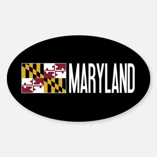 Maryland: Marylander Flag & Marylan Sticker (Oval)