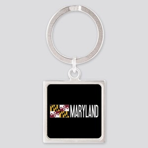 Maryland: Marylander Flag & Maryla Square Keychain
